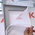 Montage-Ansicht Textildrucke
