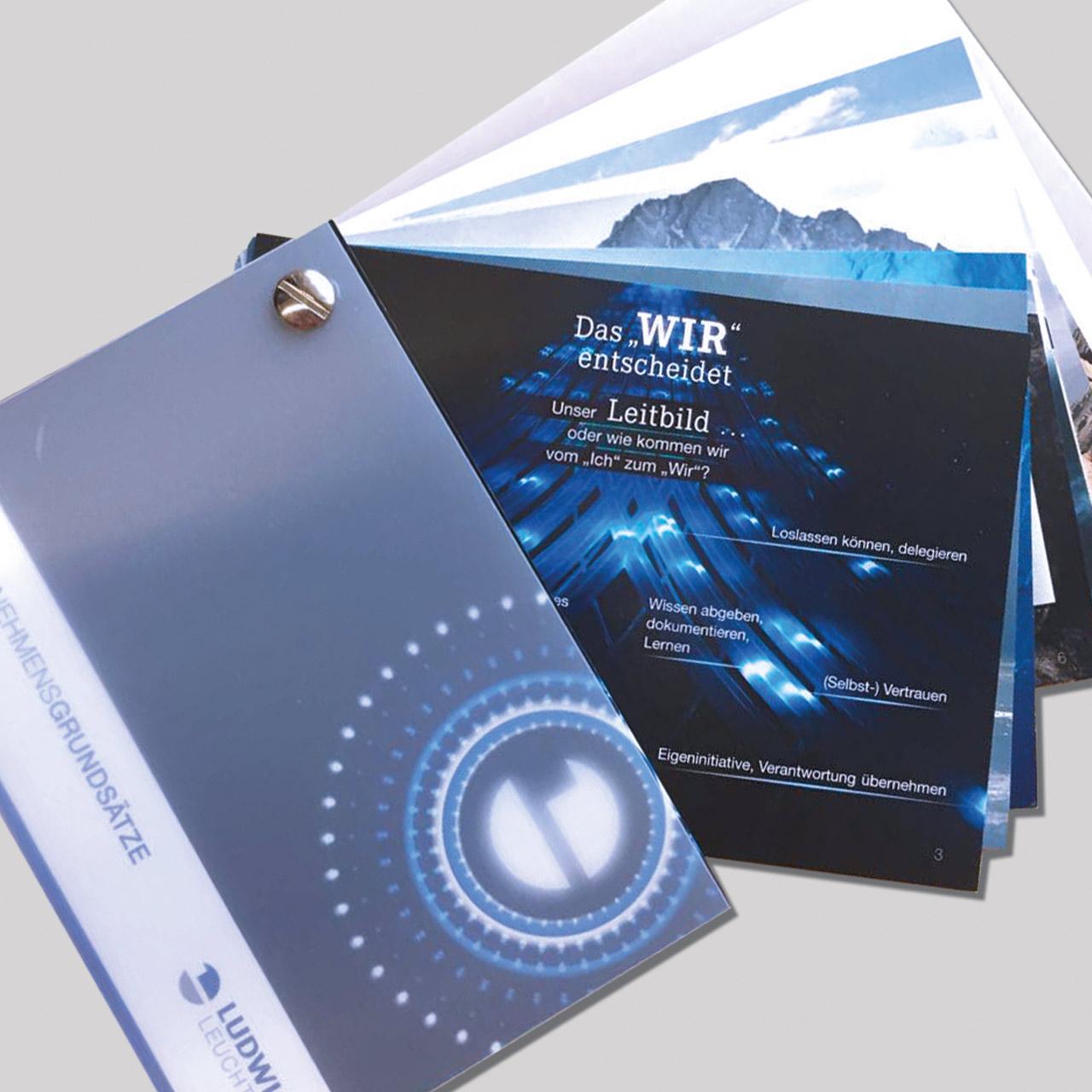 Leitbild: Pocket-Guide zum neuen Firmen-Leitbild