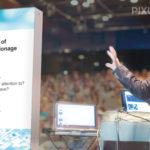 Marketingtool PIXLIP GO - Einsatzbereich Präsentationsbühne