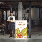Marketingtool PIXLIP GO - Einsatzbereich Reklametafel Gastronomie