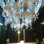 Messestandkonzeption: Ansicht Stuhlskulptur