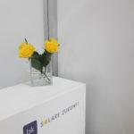 ntersolar: Detailansicht Blumen auf Theke