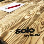 GaLaBau 2018 - Detailansicht gebrandete Tischplatten