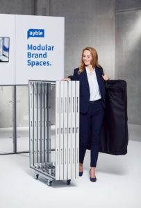 Mobiles Messesystem aus Aluminium-Rahmen