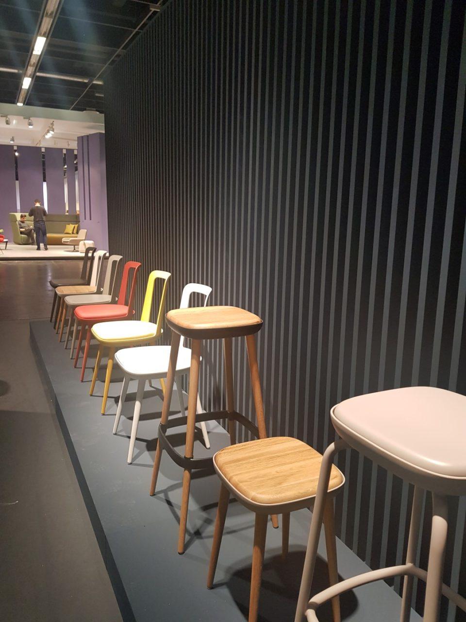Der neue W2020 modulares Stuhlkonzept in Szene gesetzt