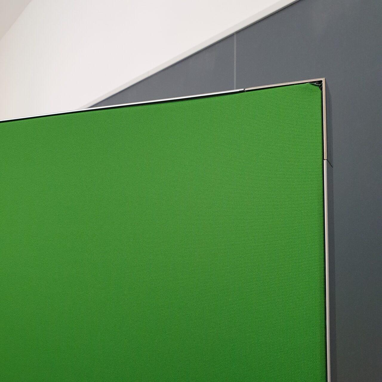 Greenscreen Textilrückwand