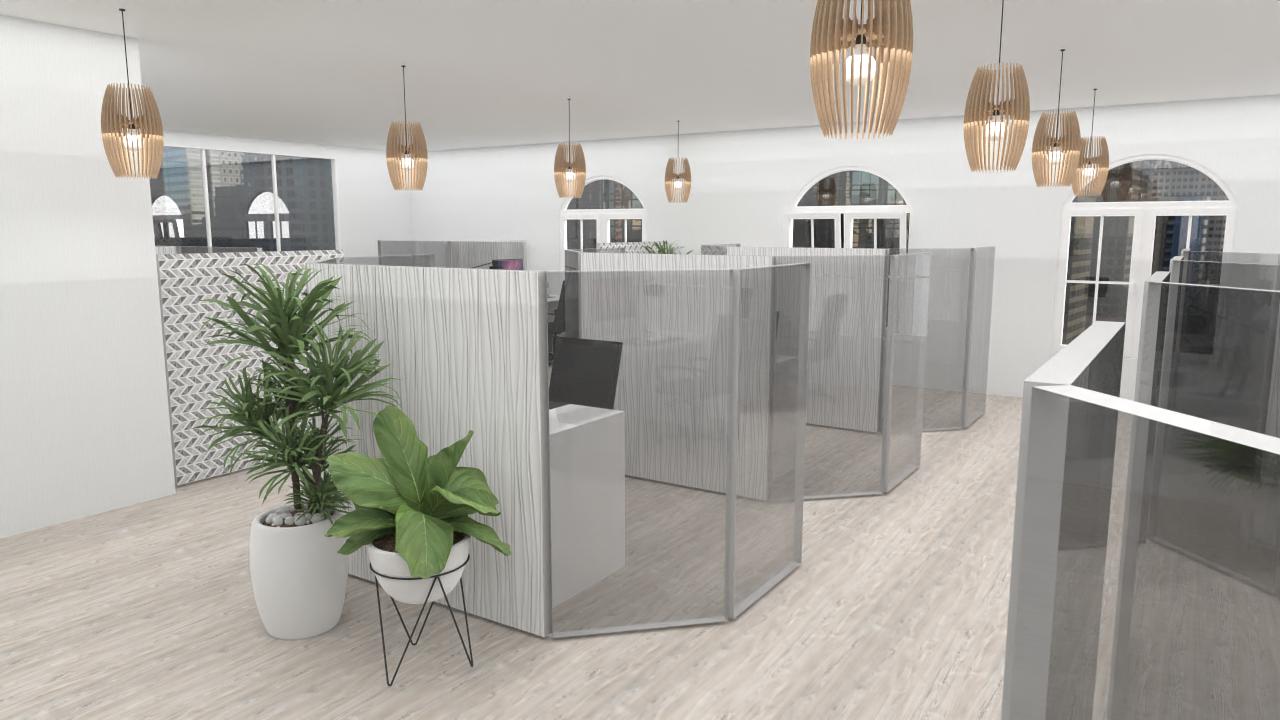 Planung Trennwände corona Büro