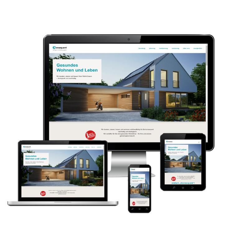 Markenentwicklung und Homepage für ökonsequent GmbH
